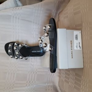 NIB Marc Jacobs Clear Flats with Silver bobbles